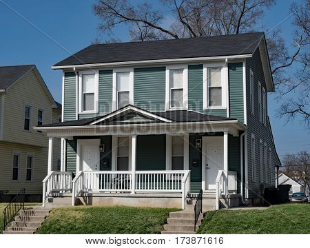 Blue Duplex Housing