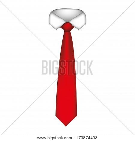 red tie with neck shirt icon, vector illustraction design image