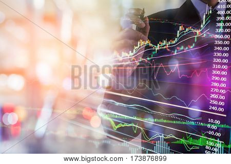 Business Man. Business man put idea on board. Business man use pen for create business planning. Business accessory background. Business strategy. Business working. Business people concept. Business man over sunny. Business plan background