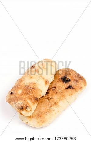 Balkan Somun Bread Isolated Over White