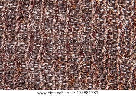 Textural Background Of Melange Bouclé Fabric With Lurex Thread
