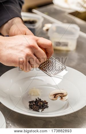 Chef Shreding Lemon Zest
