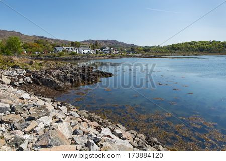Arisaig Scotland uk south of Mallaig in Scottish Highlands a coastal village