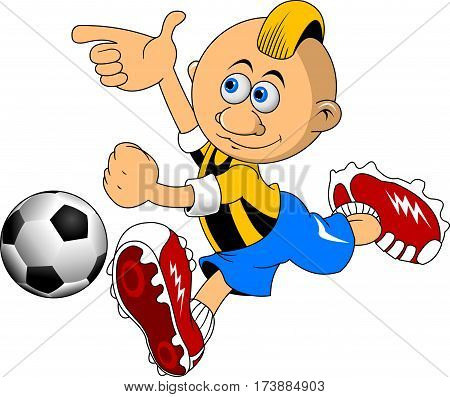 new soccer design element white background (vector-illustration)