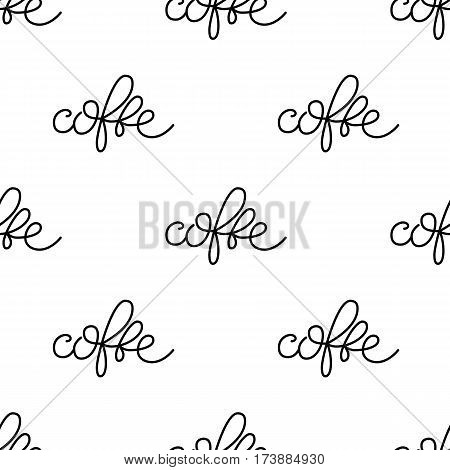 Vecktor pattern consisting of lettering, hand-written and circled phrases coffe