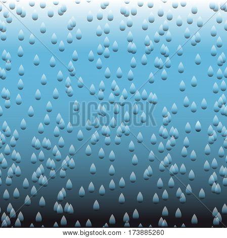 Abstract vector background with gradation effect. Rain pattern.
