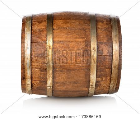 Barrel made of wood isolated on a white background