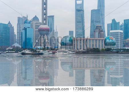 landmarks of Shanghai,building group in China .