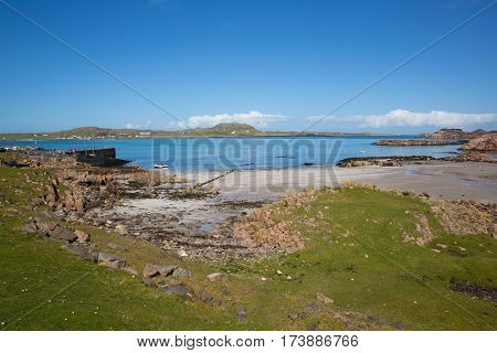 Fionnphort beach Isle of Mull Scotland UK view to Iona island