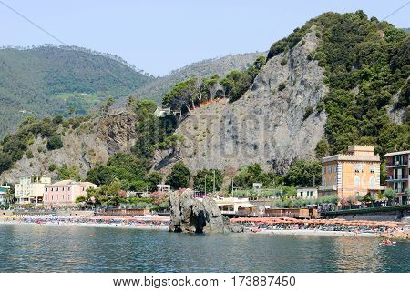 The Beach Of Monterosso On Cinque Terre, Italy