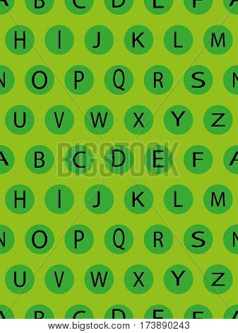 seamless pattern with geometric shapes and letters. alphabet, hornbook
