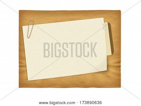 brown scrapbook ancient paper design isolated on white background