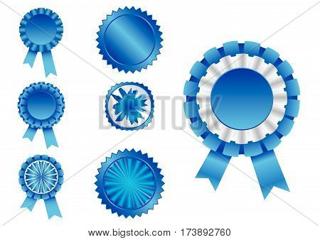 Seven different ribbons in vector format .