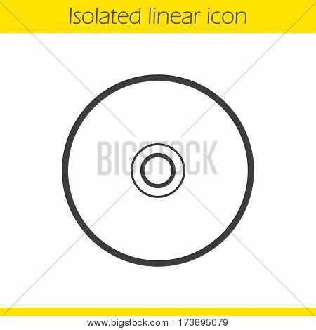 CD linear icon. Thin line illustration. Compact disc contour symbol. Vector isolated outline drawing