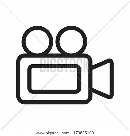 Video, camera, travel icon vector image. Can also be used for web interface. Suitable for use on web apps, mobile apps and print media.