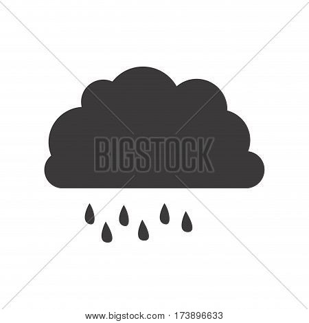 gray silhouette of cloud with drizzle vector illustration