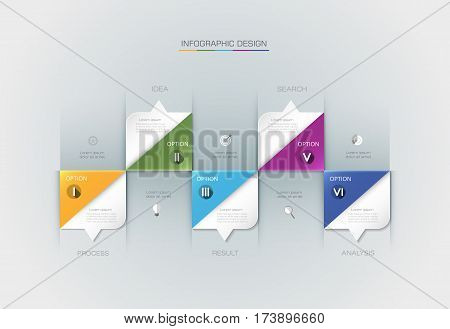 Vector Infographic label design with icons and 5 options or steps. Infographics for business concept. Can be used for presentations, banner, workflow, layout, process, diagram, flow chart, info graph