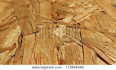 interesting details of macro shooting Oriented Strand Board (OSB)