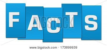 Facts text alphabets written over blue background.