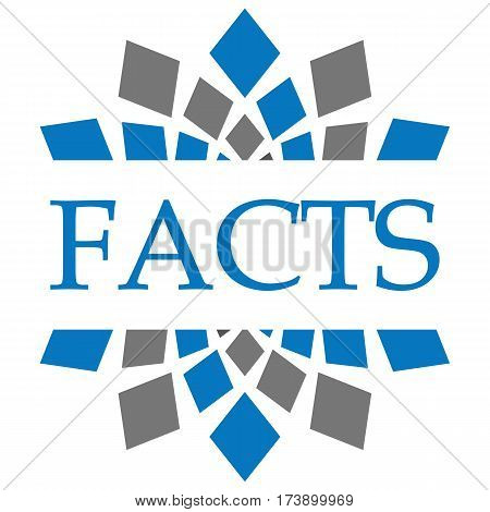 Facts text written over grey blue circular background.