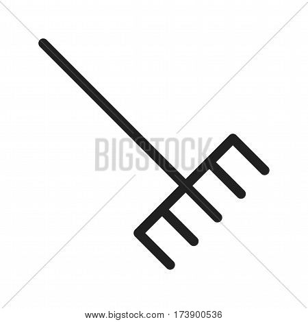 Garden, rake, grass icon vector image. Can also be used for autumn. Suitable for mobile apps, web apps and print media.