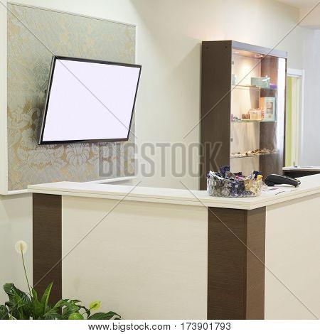 Interior of a reception hall