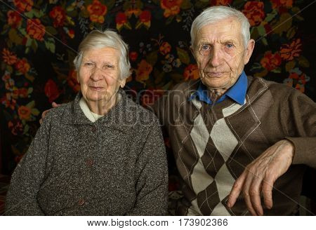 family. portrait of the senior grand parents