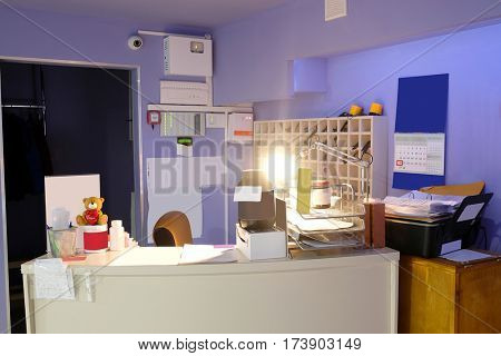 Interior of a reception