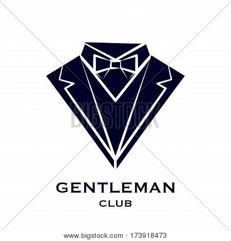 Abstract gentleman club logotype isolated on white background