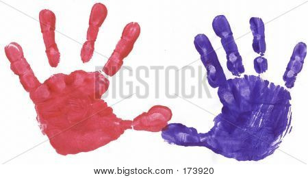 Red And Blue Hands