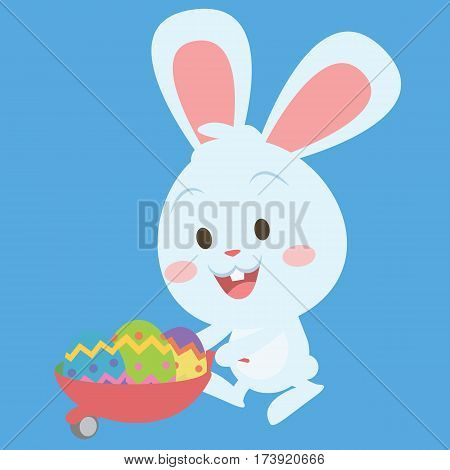 Easter bunny style character illustration collection stock