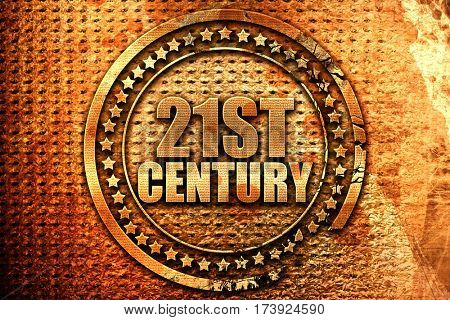 21st century, 3D rendering, metal text