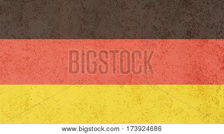 German flag plaster wall. Abstract Flag background.