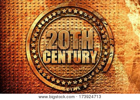 20th century, 3D rendering, metal text