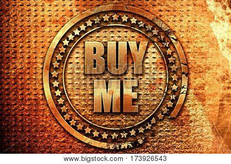 buy me, 3D rendering, metal text