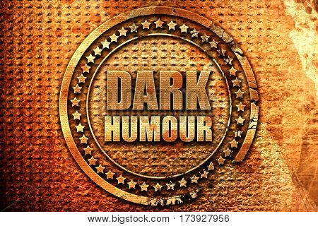 dark humour, 3D rendering, metal text