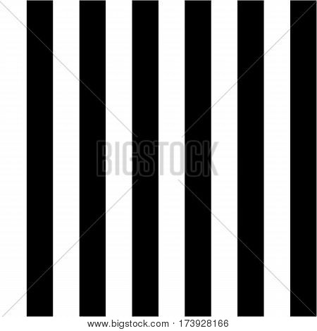Striped seamless pattern with vertical line in black and white colors. Strict graphic background. Pastel colors. Template for wallpaper, wrapping paper, textile, fabric. Vector Illustration.