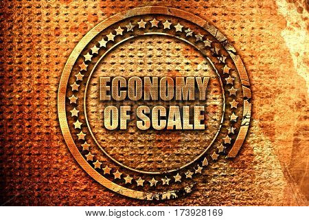 economy of scale, 3D rendering, metal text