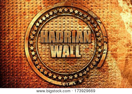 hadrian wall, 3D rendering, metal text