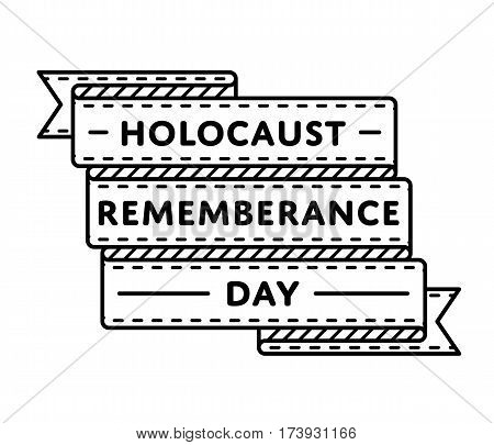 Holocaust Remembrance Day emblem isolated vector illustration on white background. 27 january world memorable holiday event label, greeting card decoration graphic element