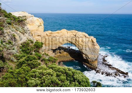 The Arch in the Port Campbell National Park on the Great Ocean Road in Victoria, Australia
