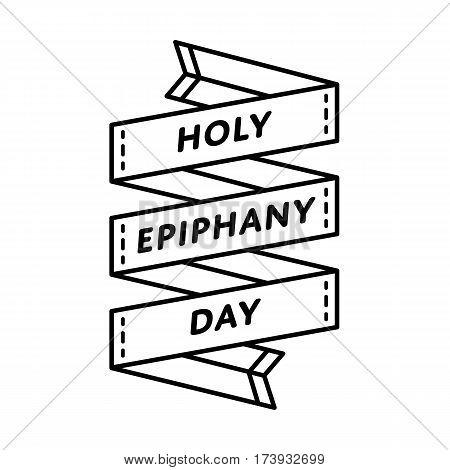 Holy Epiphany day emblem isolated vector illustration on white background. 6 january world christianity holiday event label, greeting card decoration graphic element