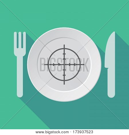 Long Shadow Dishware With A Crosshair