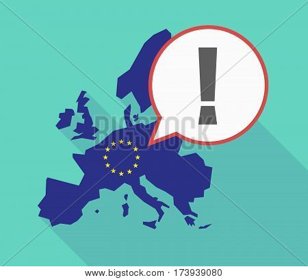 Eu Map With An Admiration Sign