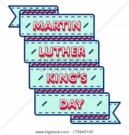 Martin Luther King Day emblem isolated vector illustration on white background. 16 january USA patriotic holiday event label, greeting card decoration graphic element