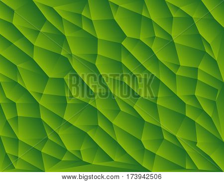 Green polygon abstract triangulated background vector illustration