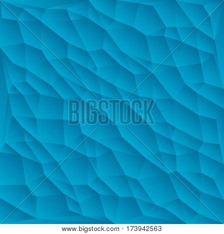 Blue polygon abstract triangulated background vector illustration