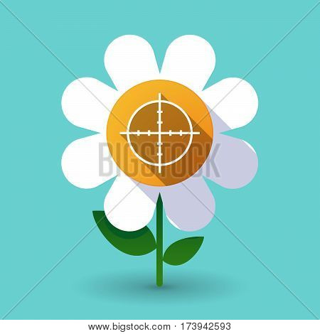 Long Shadow Daisy With A Crosshair