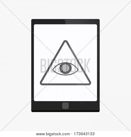 Isolated Tablet Pc With An All Seeing Eye