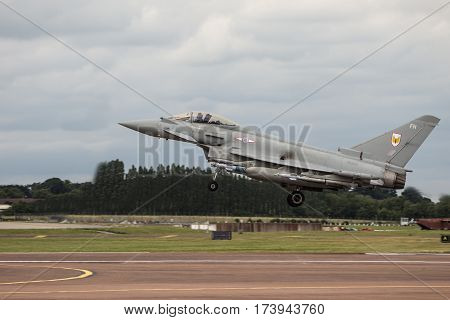 Raf Typhoon Landing At Riat
